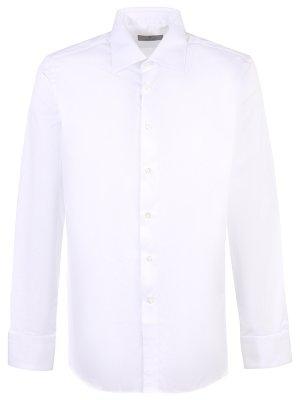 Хлопковая рубашка Slim Fit CANALI