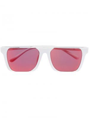 Солнцезащитные очки Linda Farrow x MB Marcelo Burlon County Of Milan. Цвет: белый