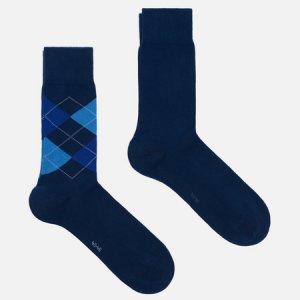 Комплект носков Everyday 2-Pack Burlington. Цвет: синий