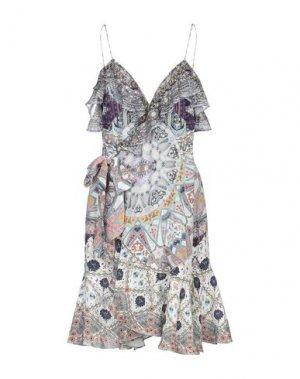 Короткое платье CANNELLA. Цвет: светло-серый