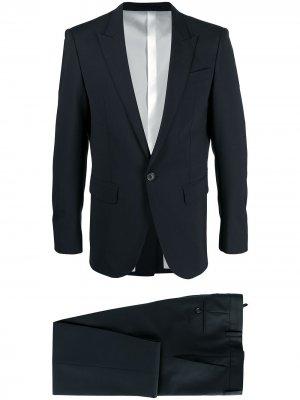 Строгий костюм с однобортным пиджаком Dsquared2. Цвет: синий