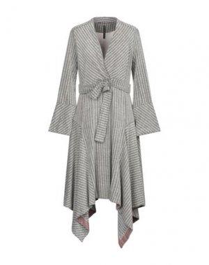 Легкое пальто MANILA GRACE. Цвет: светло-серый