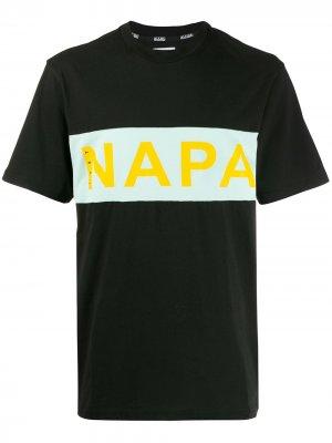 Футболка с логотипом Napapijri. Цвет: черный
