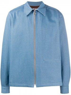 Джинсовая куртка-рубашка Yard Anglozine. Цвет: синий