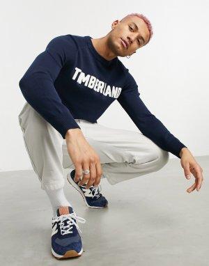 Джемпер с логотипом -Темно-синий Timberland