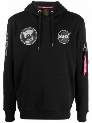 Nasa Voyager cotton-blend hoodie Alpha Industries. Цвет: черный