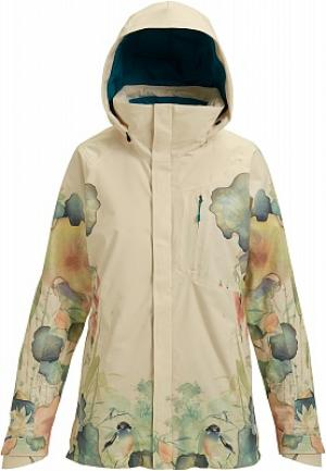 Куртка утепленная женская Ak Gore-Tex Embark, размер 42-44 Burton. Цвет: бежевый