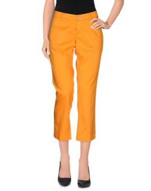 Брюки-капри RE-HASH. Цвет: оранжевый