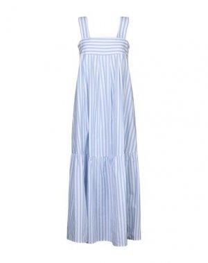 Длинное платье ROBERTO COLLINA. Цвет: небесно-голубой