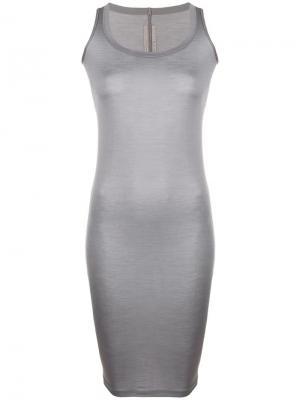 Приталенное длинное платье Rick Owens