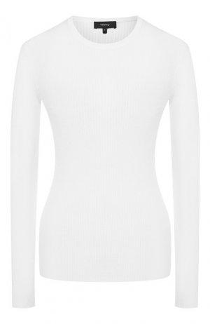 Шерстяной пуловер Theory. Цвет: кремовый