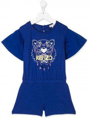 Комбинезон с логотипом Kenzo Kids. Цвет: синий