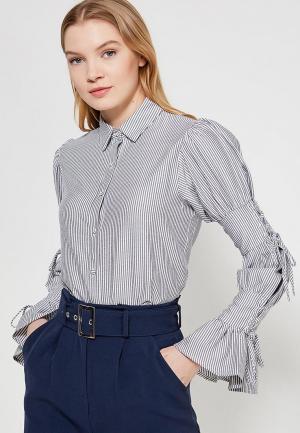 Блуза LOST INK TIE DETAIL STRIPED SHIRT. Цвет: серый