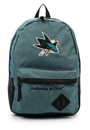 Рюкзак Atributika & Club™ NHL San Jose Sharks. Цвет: зеленый
