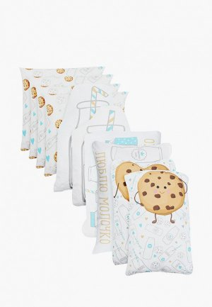 Бортик для детской кровати Крошка Я Milk & Cookie. Цвет: белый