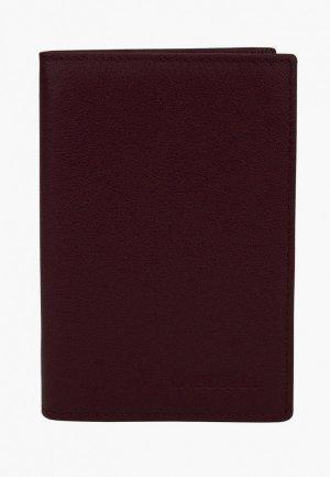 Обложка для паспорта Laccoma. Цвет: бордовый