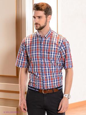 Рубашка Claudio Campione. Цвет: синий, красный, белый