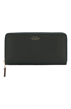 Кожаный кошелек Smythson. Цвет: синий
