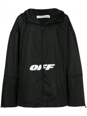Куртка с принтом Off-White. Цвет: черный