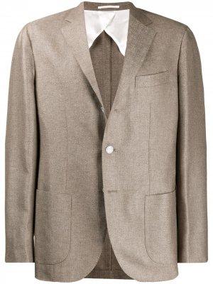Классический костюмный пиджак Barba. Цвет: нейтральные цвета