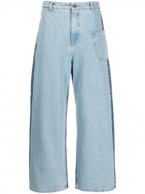 Широкие джинсы средней посадки McQ Swallow. Цвет: синий