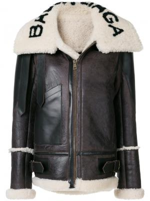 Куртка-бомбер Bal Le Bombadier Balenciaga. Цвет: коричневый