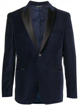 Бархатный вечерний пиджак Tonello. Цвет: синий
