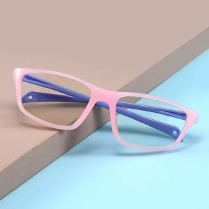 Детский Очки с защитой от синего света в геометрической оправе SHEIN. Цвет: многоцветный