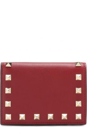 Кожаный кошелек Garavani Rockstud Valentino. Цвет: бордовый