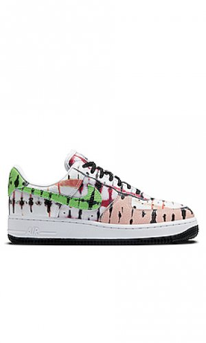 Кроссовки wmns air force 1 07 qs Nike. Цвет: white,green,coral