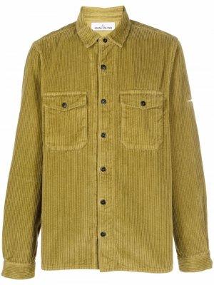 Вельветовая рубашка с длинными рукавами Stone Island. Цвет: зеленый