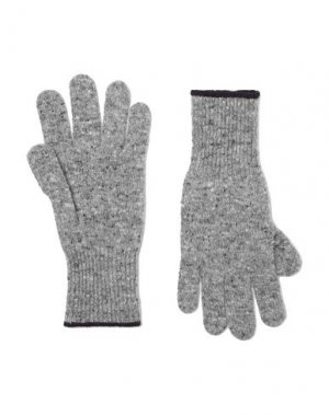 Перчатки BRUNELLO CUCINELLI. Цвет: серый