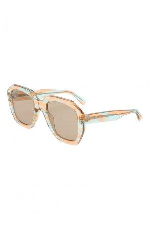Солнцезащитные очки Celine Eyewear. Цвет: розовый