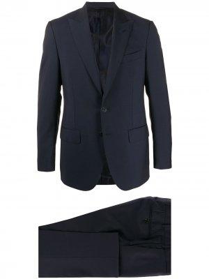 Delloglio костюм-тройка строгого кроя Dell'oglio. Цвет: синий