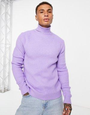 Сиреневая водолазка -Фиолетовый цвет Bershka