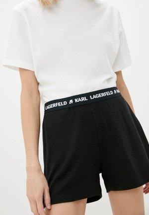 Шорты домашние Karl Lagerfeld. Цвет: черный