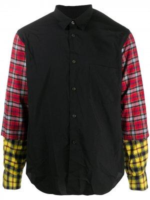 Checked sleeve cotton shirt Comme Des Garçons Homme Plus. Цвет: черный