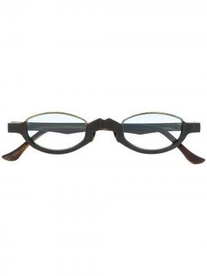 Солнцезащитные очки в массивной оправе Ziggy Chen. Цвет: золотистый