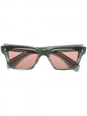 Солнцезащитные очки в квадратной оправе Jacque Marie Mage. Цвет: серый
