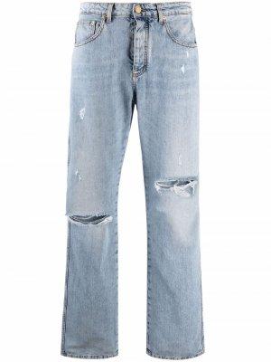 Distressed boyfriend jeans Ermanno. Цвет: синий