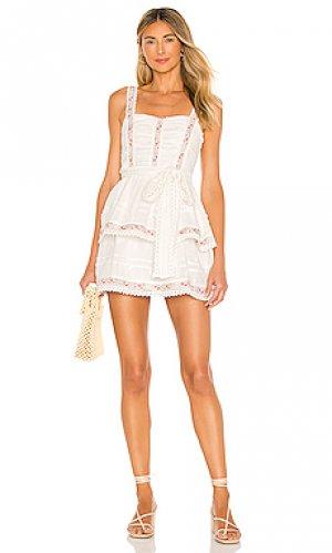 Платье josie Tularosa. Цвет: белый
