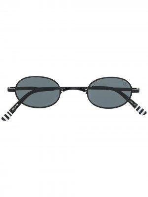 Солнцезащитные очки Lyndale с овальной оправой Etnia Barcelona. Цвет: черный