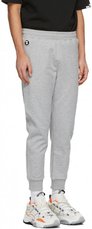 Grey Logo Lounge Pants AAPE by A Bathing Ape. Цвет: heather grey