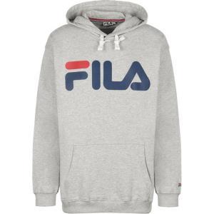 Свитшот с капюшоном FILA. Цвет: серый меланж