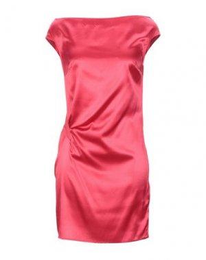 Короткое платье FRANCESCA PICCINI. Цвет: коралловый