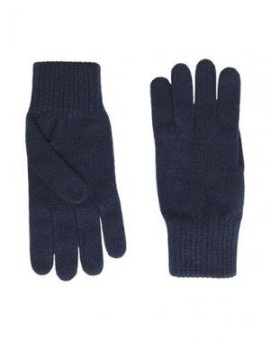 Перчатки 8 by YOOX. Цвет: темно-синий