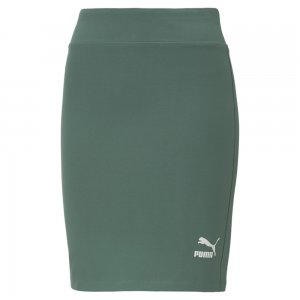 Юбка Classics Womens Tight Skirt PUMA. Цвет: зеленый