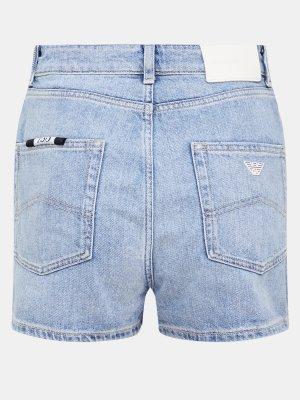 Джинсовые шорты Emporio Armani. Цвет: goluboy