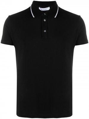 Рубашка поло с контрастной отделкой Cruciani. Цвет: черный