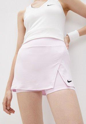 Юбка-шорты Nike W NKCT DF VCTRY SKIRT STR. Цвет: розовый